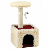 GorPets Cat Scratcher Meow Manor (60cm) Cream/Red